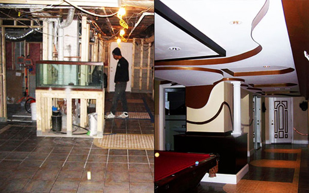 ... Interior Remodeling Before And After Basement Remodel Cambridge